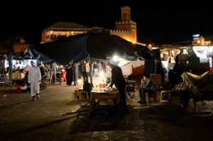 Quiet spot in Jemaa el Fna